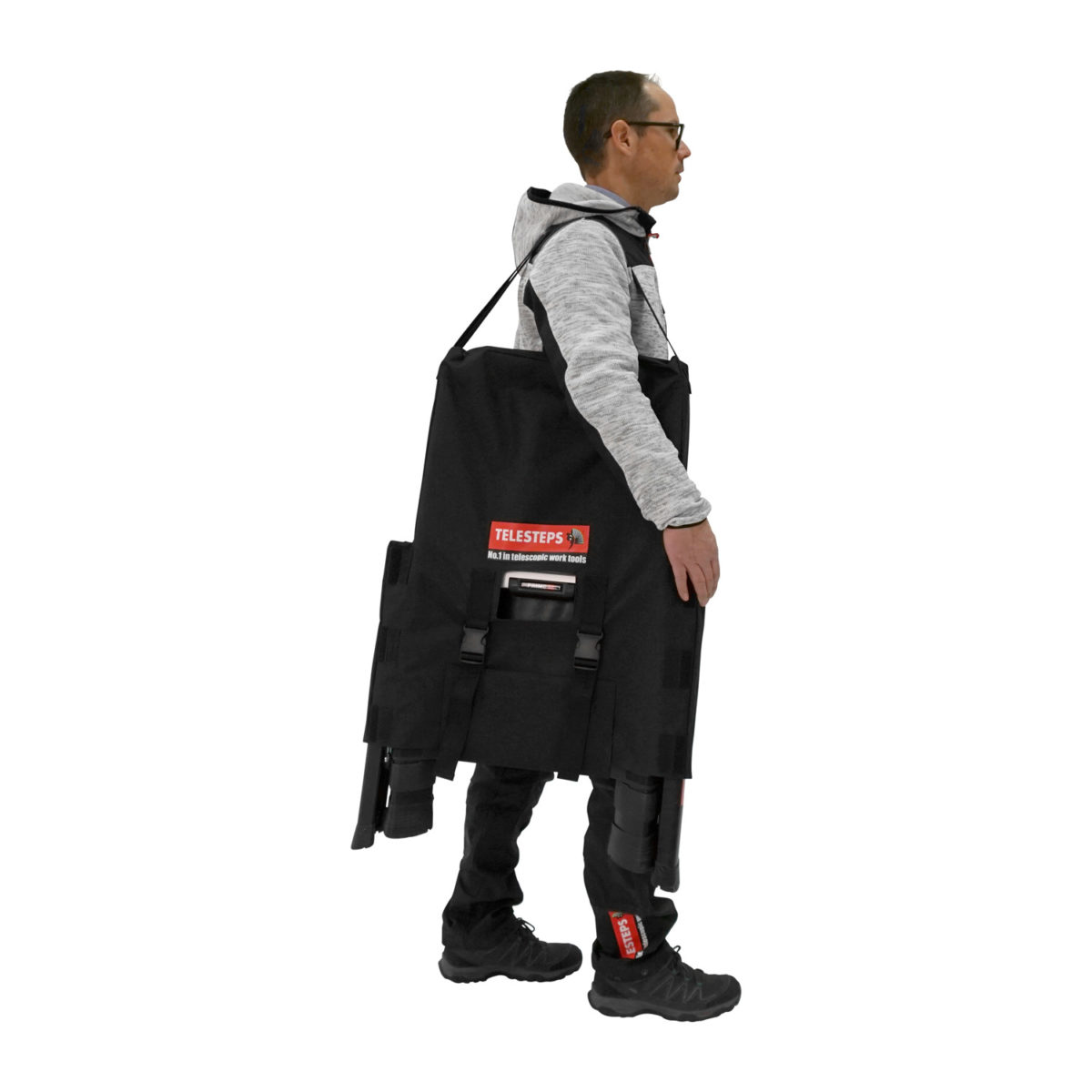 Carry bag for telescopic ladders.